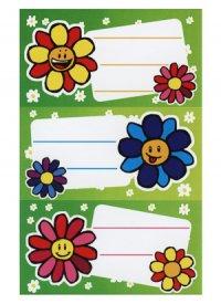Etiketten Fröhliche Blumen