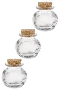 Korkenglas Bonbonglas 35 ml, 3er Pack