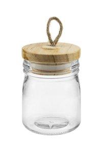Dekoglas 150 ml mit Holzdeckel