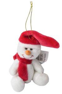 Plüschfigur Schneemann zum Anhängen