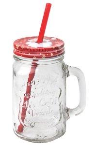 Trinkhalmglas Weihnachtsmann 450 ml