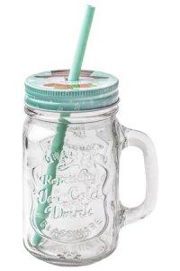 Trinkhalmglas Schneemann 450 ml