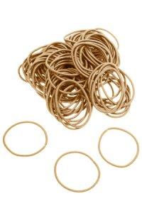 Elastische Schlaufen 40 mm, gold, 100 Stück