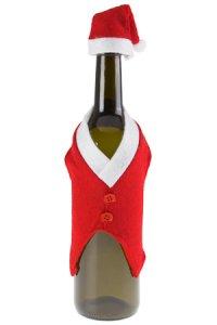 Flaschenverkleidung Nikolausweste mit Mütze