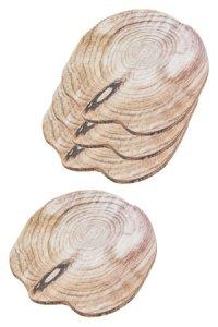 Untersetzer Holzdekor, 16 x 14,5 cm, 4er Pack