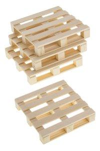 Deko-Holzpalette 10 x 10 cm, 4er Pack