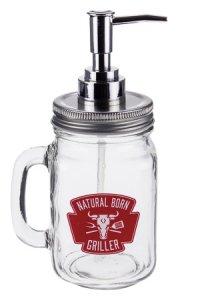 Soßenspender Henkelglas 450 ml, rot
