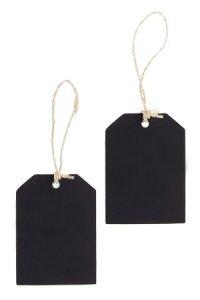 Geschenkanhänger Holztäfelchen, schwarz, 2 Stück