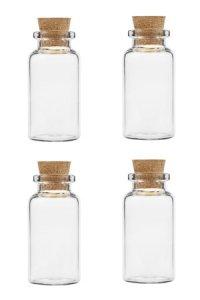 Minikorkenflasche 10 ml, 4er Pack