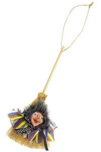 Anhänger Hexenbesen mit Gesicht, 20 cm