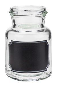 Rundglas 150 ml mit Tafel - 2. WAHL