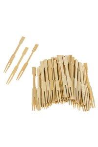 Bambus-Cocktailgabeln 9 cm, 72er Pack