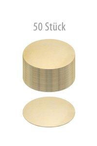 Pappscheibe Ø 120 mm gold/silber,  50 Stück