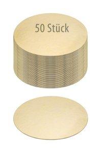 Pappscheibe Ø 160 mm gold/silber,  50 Stück