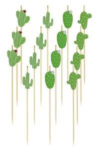 Bambusstäbchen Kaktus, 12 cm, 15er Set
