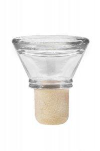 Glasstopfen Oval 19 mm klar