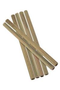 Trinkhalm aus Bambus, 16 cm, 6er Pack