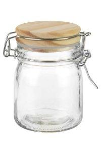 Bügelglas  170 ml mit Holzdeckel