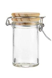 Bügelglas   60 ml mit Holzdeckel