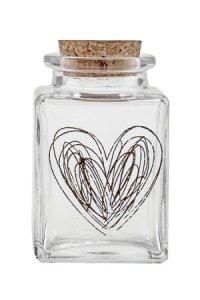 Deko-Korkenglas Herz 80 ml