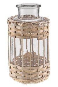 Deko-Glas im Korbmantel 1700 ml