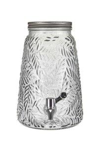 Getränkespender Palmblätter 3,5 Liter, weiß