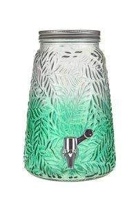 Getränkespender Palmblätter 3,5 Liter, grün