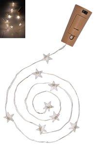Deko-Stopfen mit Lichtstrang Stern, 8 LEDs