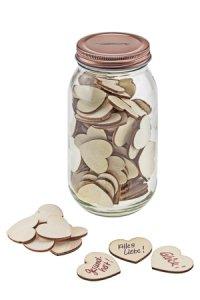 Wunschglas 740 ml mit 100 Herzen