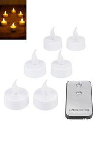 Teelicht LED 6er Pack mit Fernbedienung