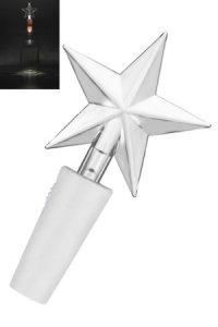 Deko-Stopfen Stern mit 2 LEDs