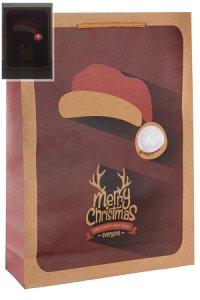 Geschenktüte Merry Christmas mit LED, 24 x 8 x 33 cm
