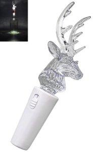 Deko-Stopfen Rentier mit 2 LEDs
