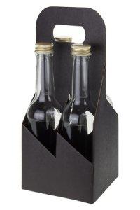 Flaschenkarton 4er 130 x 130 x 290 mm schwarz