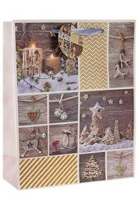 Geschenktüte Weihnachtsmotive, 26 x 12 x 32 cm