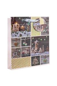 Geschenktüte Weihnachtsmotive, 18 x 10 x 23 cm