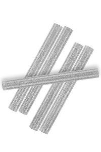 Heißklebestifte silber, 10 x 100 mm, 6 Stück