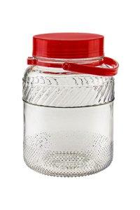 Weithalsglas  3 Liter mit Henkel und Ausgießer