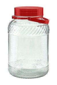 Weithalsglas  5 Liter mit Henkel und Ausgießer