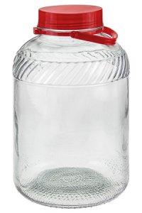 Weithalsglas 10 Liter mit Henkel und Ausgießer