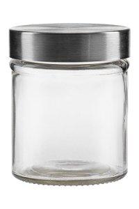 Vorratsglas  300 ml mit Edelstahlverschluss, rund