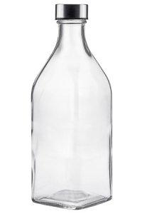 Glasflasche 1000 ml quadratisch