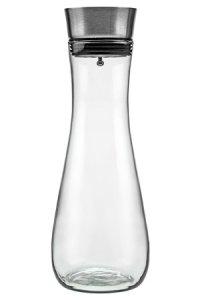 Glaskaraffe 1000 ml mit Edelstahlausgießer
