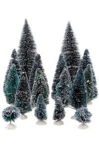 Deko-Tannenbaum-Set, 5 - 22 cm, 16-teilig