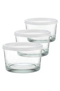 Servierglas 200 ml mit Schnappdeckel, 3er Pack