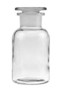 Apothekerflasche mit Glasstopfen  250 ml weiß