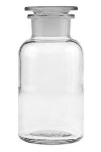 Apothekerflasche mit Glasstopfen  500 ml weiß