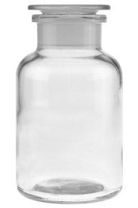 Apothekerflasche mit Glasstopfen 1000 ml weiß