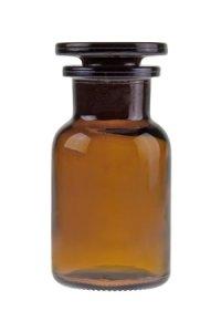 Apothekerflasche mit Glasstopfen  100 ml braun