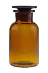 Apothekerflasche mit Glasstopfen  250 ml braun